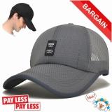 Spesifikasi Hot Sale Kualitas Tinggi Baru Bernapas Olahraga Desain Keren Baseball Cap Abu Abu Gelap Dan Harganya