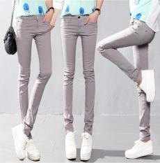 Beli 2016 Candy Color Wanita Ladies Peregangan Pensil Celana Kasual Slim Fit Denim Jean Celana Celana Intl Murah Di Tiongkok