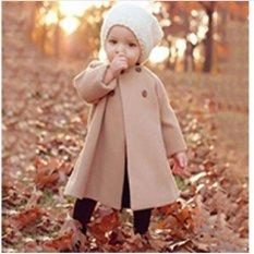 2016 Eropa dan Amerika Serikat Musim Gugur dan Musim Dingin Baru Anak Pakaian Warna Solid Lengan Panjang Bagian Panjang Jubah-style Woolen Jaket Quick Jual Lewat Ledakan Bagian-Intl