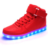Jual 2016 Fashion Led Sneakers Sepatu Olahraga Sepatu Boots Untuk Kids Boys Girls High Top Led Sepatu Light Up 11 Warna Berkedip Rechargeable Sneakers Ankle Boots Untuk Mens Womens Boys Girls Untuk Halloween Intl Oem Online