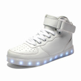 Spesifikasi 2016 Fashion Led Sneakers Sports Shoes Boots For Kids Boys Girls High Top Led Light Up Shoes 11 Colors Flashing Rechargeable Sneakers Ankel Boots For Mens Womens Boys Girls For Halloween Intl Oem Terbaru