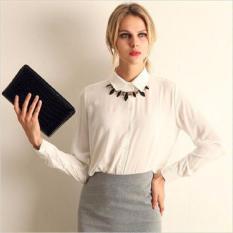 2016 Hot Selling Women Shirt Blusas Femininas Sifon Atasan Elegan Ladies Formal Kantor Blus 5 Warna Work Wear