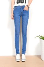2016 Jeans Womens High Waist Elastic Skinny Denim Long Pencil Pants Plus Size 36 Woman Jeans Camisa Feminina Lady Fat Trousers -light blue