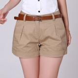 Harga 2016 Musim Panas Korea Wanita Cotton Shorts Wanita Kasual Short Trousers Solid Warna Khaki White Tidak Termasuk Belt Intl Terbaru