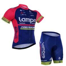 2016 Lampre Tim Pro Bersepeda Jersey Pendek Lengan Sepeda Pakaian Olahraga Pakaian Bersepeda Adapula Bernapas Cepat
