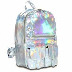 Jual 2016 Mochila Masculina Ransel Jepang Dan Gaya Korea Womensilver Hologram Laser Backpack Mens Tas Kulit Holographicbackpack Multicolor Silver Intl Tiongkok