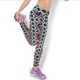 Harga 2016 Kedatangan Baru 12 Warna Wanita Kualitas Tinggi Pinggang Kebugaran Olahraga Yoga Pants Floral Dicetak Elastis Stretch Running Gym Legging Gaya 6 Intl Original