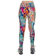 Harga 2016 Kedatangan Baru 12 Warna Wanita Tinggi Pinggang Kebugaran Olahraga Yoga Celana Floral Printed Peregangan Elastis Menjalankan Gym Legging Gaya 8 Intl Oem