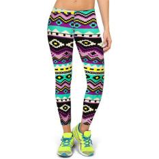 Jual 2016 Kedatangan Baru 12 Warna Wanita Tinggi Pinggang Kebugaran Olahraga Yoga Celana Floral Printed Peregangan Elastis Menjalankan Gym Legging Gaya 9 Intl Original