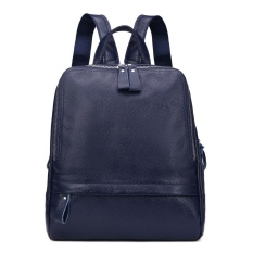 2016 NEW Cow Leather Fashion Backpacks Bag Women Girls Boys Design Crocodile Pattern Cowhide Genuine Leather Schoolbag Satchels - intl