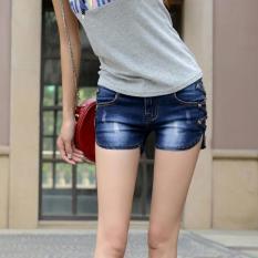 Spesifikasi 2016 New Denim Pants Bang Pendek Wanita Flounced Shorts Korea Slim Ukuran Jeans Dark Biru Intl Beserta Harganya