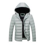 Ulasan Tentang 2016 Baru Fashion Musim Dingin Hangat Pria Hooded Ringan Jaket Mantel Grey Intl