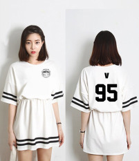 2018 New Kpop Musim Panas BTS Wanita mini Gaun Natural Lady Gadis Underdresses BTS Pakaian Set Wanita-Intl