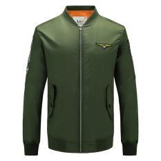2016 Jaket Bomber Gaya Baru Jaket Pria AERONAUTICA MILITARE Pilot Air Force One For Pria Jaket And Mantel Penerbangan (hijau)