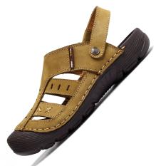 Katalog 2016 Summer Beach Sepatu Pria Outdoor Sandal Coklat Terbaru