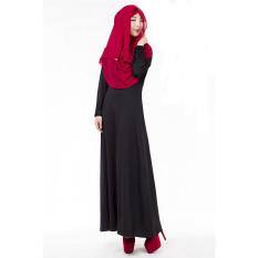 2016-summer-new-women-long-sleeve-loose-casual-o-neck-patchwork-muslim-dress-black-intl-7985-9095699-ce826aea4f19d0a7cfea41d89a18369e-catalog_233 Kumpulan Daftar Harga Dress Muslim Pesta 2016 Terbaru 2018