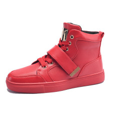 Promo 2016 Musim Dingin Hangat Santai Sepatu Pria Fashion Sepatu Bot Pria Merah Intl