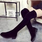 Jual 2016 Perempuan Dan Lutut Dia Bot Tinggi Paha Langsing Paha Kesemek Flat Boots Oem Online