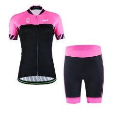 2016 WSP14 Desain Sepeda Bersepeda Lengan Pendek Jersey Set Perempuan Wanita Gadis-Intl