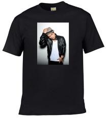 2017 ALVA DIY Tshirt Leher V Fesyen Olahraga Bruno Mars Hitam-Intl