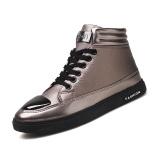 Harga 2017 Musim Gugur Dan Musim Dingin Korea Versi Baru Dari Pria Tinggi Sepatu Hitam Fashion Retro Pendek Boots Santai Setiap Hari Sepatu Intl Baru