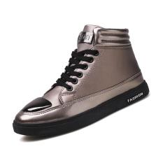 Jual 2017 Musim Gugur Dan Musim Dingin Korea Versi Baru Dari Pria Tinggi Sepatu Hitam Fashion Retro Pendek Boots Santai Setiap Hari Sepatu Intl Original