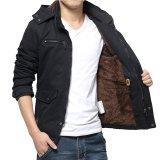 Perbandingan Harga 2017 Pria Musim Gugur Jaket Pakaian Zipper Pria Mantel Kasual Pakaian Solid Tebal Outwear Army Jaket Katun M Hitam Intl Oem Di Tiongkok