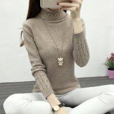 Jual 2017 Sweater Rajut Hangat Musim Gugur Musim Semi Dan Pullover Untuk Wanita Kasual Mantel Rajut Berleher Tinggi Tipis Elastis Wanita Xl Dril International Tiongkok