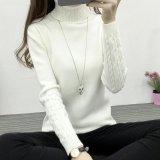 Harga 2017 Musim Gugur Musim Dingin Casual Slim Elastis Rajut Berleher Tinggi Wanita Mantel Penebalan Hangat Merajut Sweater Dan Pullovers Untuk Wanita Yg Bagus