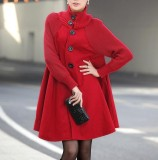 Situs Review 2017 Autumn Winter New Korean Large Size Women In A Long Loose Woolen Coat Cloak Wool Coat Intl