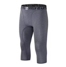 Beli 2017 Terbaik Dijual Pria Casual Sport Menjalankan Excise Kebugaran Celana Pendek Celana 7 Cropped Trousers Grey Intl Not Specified Online