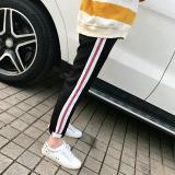 Versi Korea Dari Harem Perempuan Sembilan Poin Celana Panjang Celana Panjang Celana Olahraga Baru Pita Hitam Pita Hitam Diskon Tiongkok