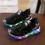 Cara Beli 2017 Anak Sepatu Kasual Pu Kulit Boys Gadis Olah Raga Sepatu Fashion Led Running Sepatu Bayi Luminous Sneakers Ukuran Eu 22 37 Hitam Intl