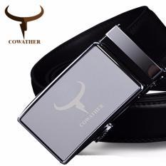 Beli Cowather Atas Sabuk Kulit Pria Sapi Sabuk Kulit Asli Untuk Pria Fashion Otomatis Paduan Buckle Belt Silver S Xxl Intl Lengkap