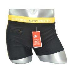 2017 Ledakan Murah Trunks Boxer Shorts Fashion Trendsetter Warna Cepat Kering Dewasa Ukuran Renang Trunks Kuning-Intl