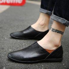 Spesifikasi 2017 Fashion Laki Laki Nyaman Shoesgenuine Sepatu Kulit Pria Sepatu Kasual Hitam Intl Oem Terbaru