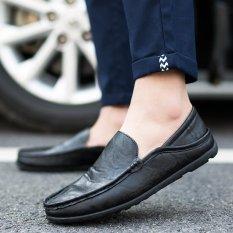 Beli Barang 2017 Busana Pria Sepatu Kasual Sepatu Bisnis Sepatu Kulit Hitam Intl Online