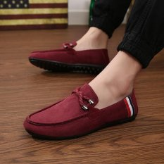 Jual Beli 2017 Busana Pria Sepatu Kasual Musim Panas Bernapas Loafer Sepatu Bisnis Merah Intl Baru Tiongkok