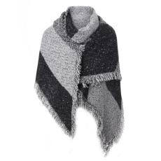 2017 Fashion Pashmina Kasmir Mencuri Selendang Shawl Wraps Musim Dingin Wanita Tebal Hangat Wol Capes Grey
