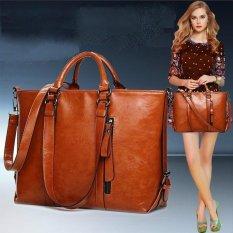 Jual 2017 Fashion Pu Tote Women Leather Handbags Messenger Shoulder Bags Brown Intl Murah