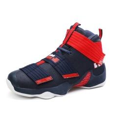2017 Feixiang Pria Olahraga Shoes No Tali Sepatu Musim Panas Nyaman Menolak Memakai Kamuflase Basketball Sepatu Pecinta Plus Ukuran 36 45 Biru Tua Intl Oem Diskon