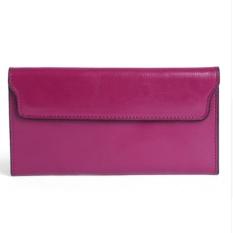 Ulasan Lengkap Tentang 2017 Genuine Leather Women Wallet Long Purse Vintage Solid Cowhide Multiple Cards Holder Clutch Fashion Standard Wallet Intl