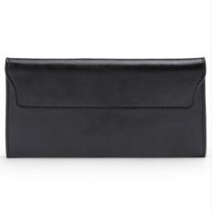 Harga 2017 Genuine Leather Women Wallet Long Purse Vintage Solid Cowhide Multiple Cards Holder Clutch Fashion Standard Wallet Intl Baru Murah