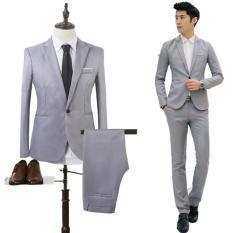 2017 Tinggi Kualitas Bisnis dan Kenyamanan Cocok Dua Cut Sesuai Groom's Best Man Pernikahan Blazer Suit- INTL