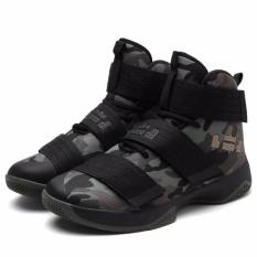 Sepatu Keranjang Tinggi Atas Baru Sepatu Olahraga Bernapas Jaring Anti-Selip Her (35-45)-Internasional