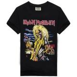 2017 Hot Rock Music Band T Shirt Men For Ac Dc Metallica Nirvana Slipknot Iron Maiden Pink Floyd Novelty Black Cotton Short Sleeves Diy T Shirt For Men Black 4 Intl Diy Diskon 30
