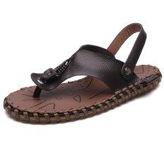 Spek 2017 Hot Selling Fashion Pria Kasual Sandal Kulit Sepatu Pantai Intl Oem