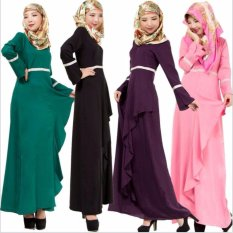 2017 Jvivi Wanita Muslim Dress National Dress Melayu Islam Pakaian (Ungu)-Intl