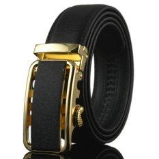 Review Pada 2017 Luxury Mens Otomatis Buckle Ikat Pinggang Sabuk Kulit Tali Pinggang Fashion Warna Hitam Belt Untuk Pria Kb 06 Intl