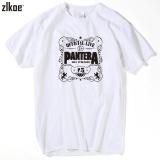 Harga 2017 Pria Mencetak Pantera T Shirt Lengan Pendek O Neck Summer Fashion Putih Power Heavy Metal Rock T Shirt Swag Intl Oem Ori